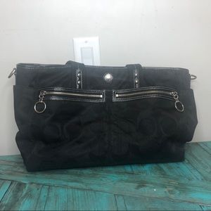 Black Coach Diaper Bag/ Tote